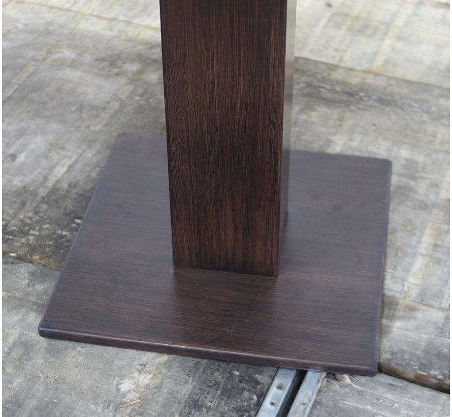 Vergadertafel Rechthoek Wengé & Wit | 150 × 80 cm