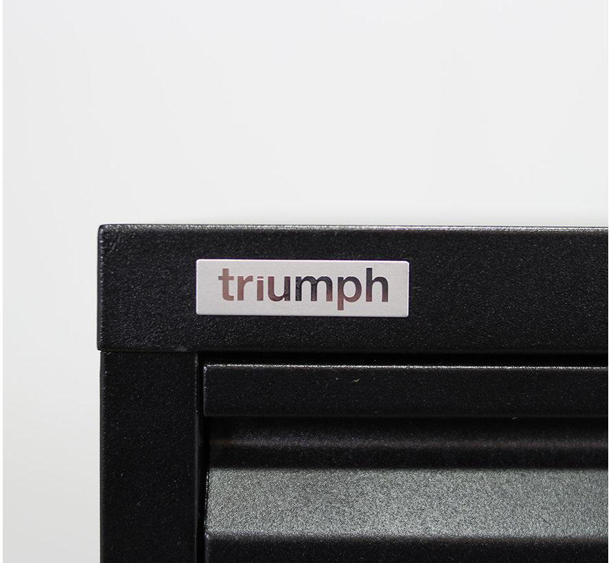 Triumph Dossierkast Zwart 4 Laden | 133 x 47 x 62 cm