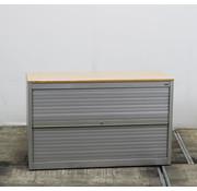 Zwartwoud Zwartwoud Zettoe Roldeurkast | 72 x 120 x 47 cm