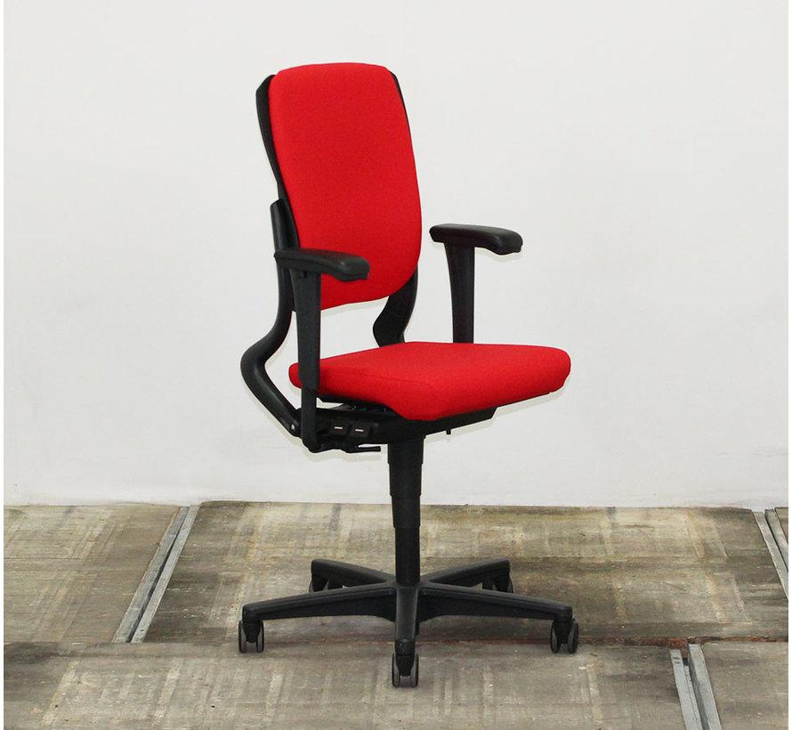 Ahrend 230 Bureaustoel Rood | Nieuw Gestoffeerd - Hoge Rug