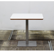 Lamers Kantoormeubelen Kantinetafel Wit Blad | 80 x 80 cm