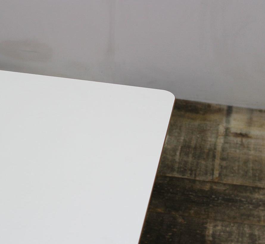 Kantinetafel Wit Blad   80 x 80 cm