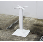 Lamers Kantoormeubelen Vierkante Kolompoot Gietijzer 73 cm Wit