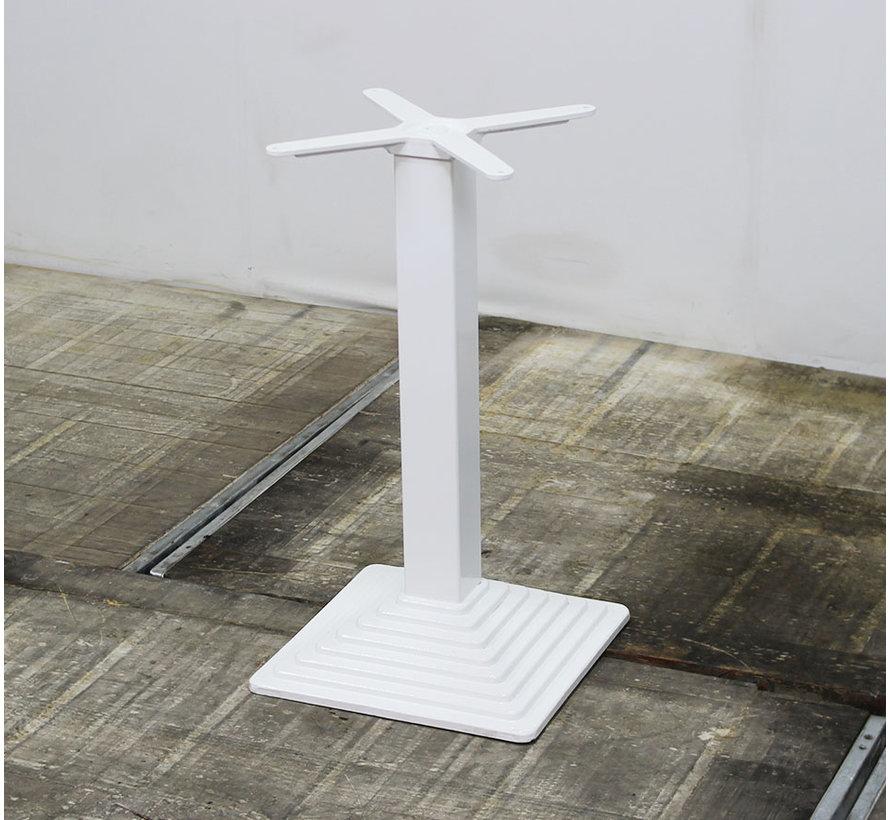 Vierkante Kolompoot Gietijzer 73 cm Wit