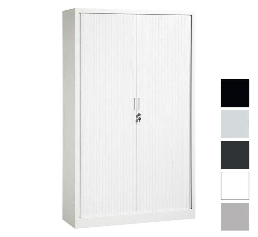 Store Roldeurkast 198 x 120 x 43 cm | 4 Legborden - Diverse Kleuren