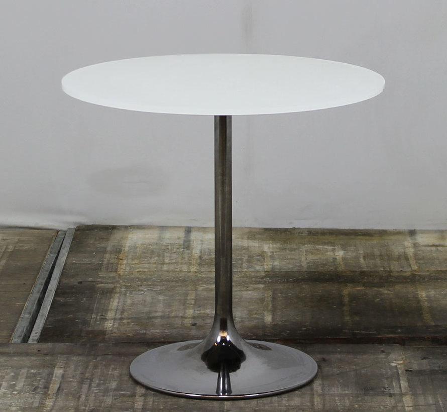 Ronde Tafel Wit Glas Ø 75 cm