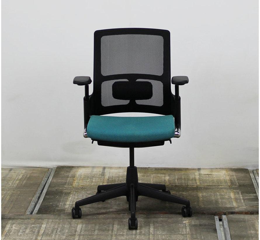 Ahrend 2020 Bureaustoel Turquoise & Zwart