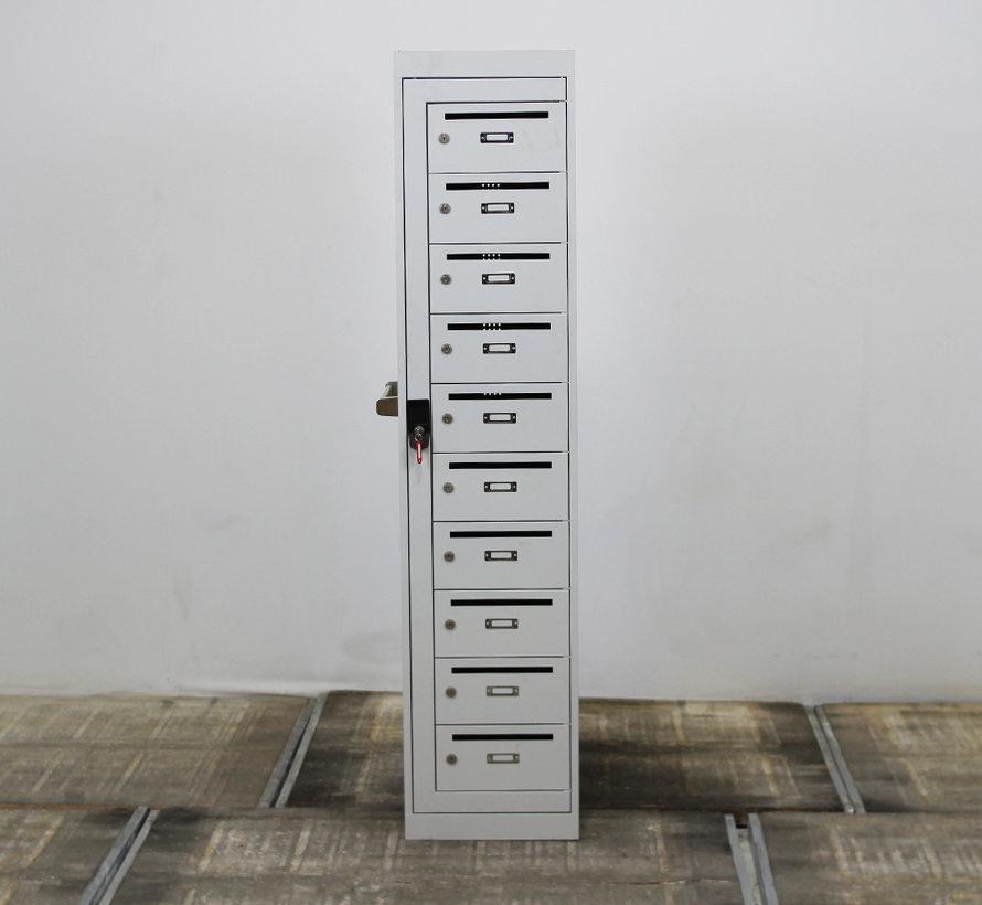 Postvakkenkast 10 Vakken Lichtgrijs | 180 x 40 x 50 cm