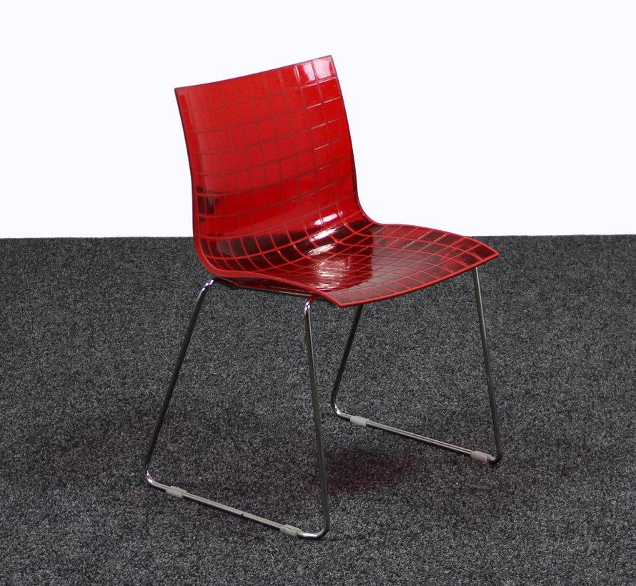 Designstoel Maxdesign X3 Kunststof Rood