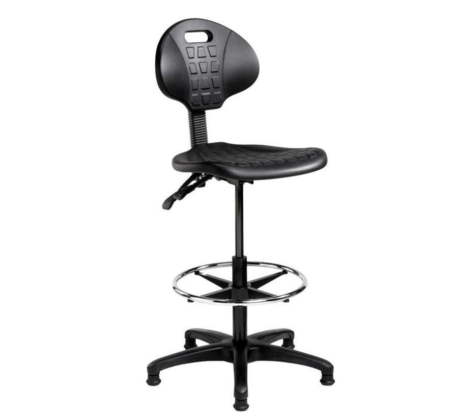 Verstelbare Werkplaatsstoel Zwart