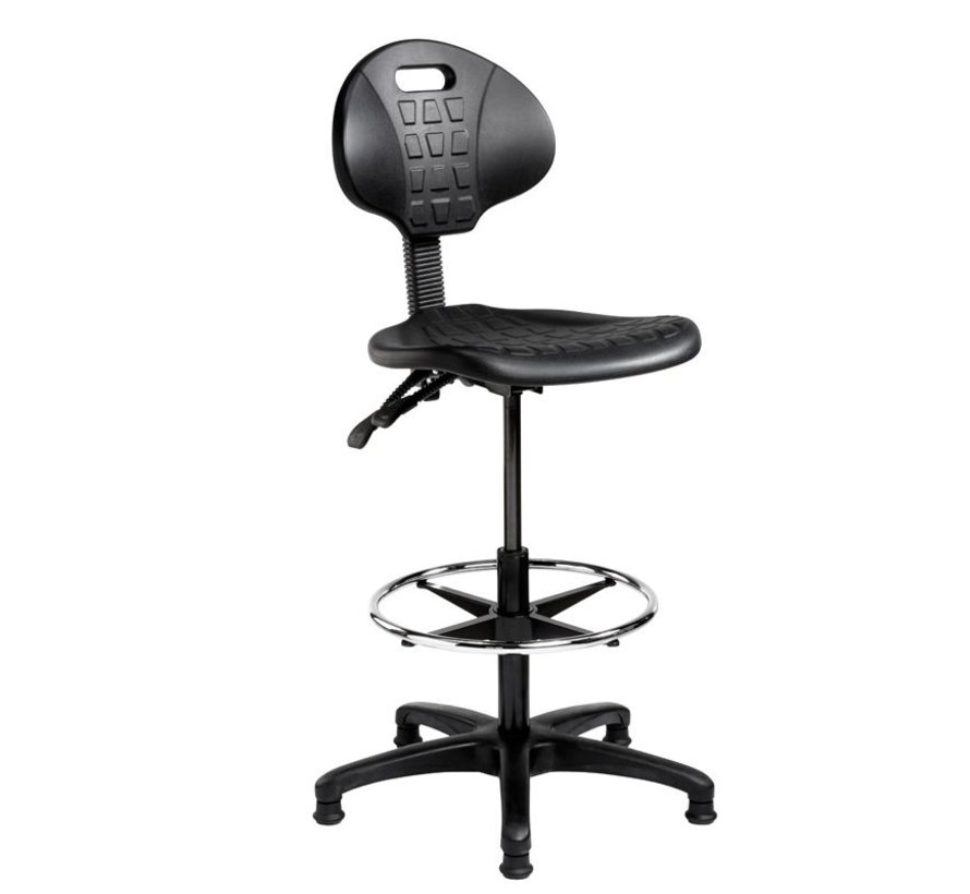 Verstelbare Werkstoel Hoog | Zwart