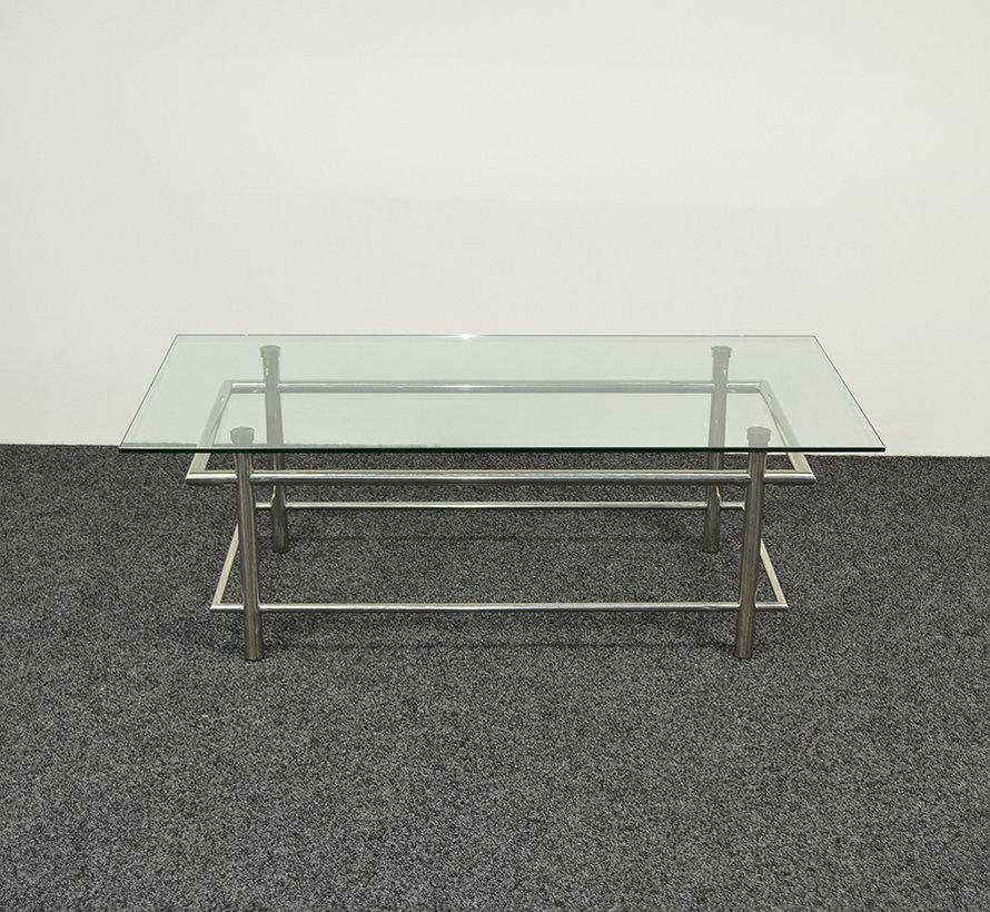 Glazen Salontafel | Chroom Frame
