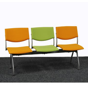 Ahrend Ahrend 3 Zits Wachtkamerbank Oranje / Groen