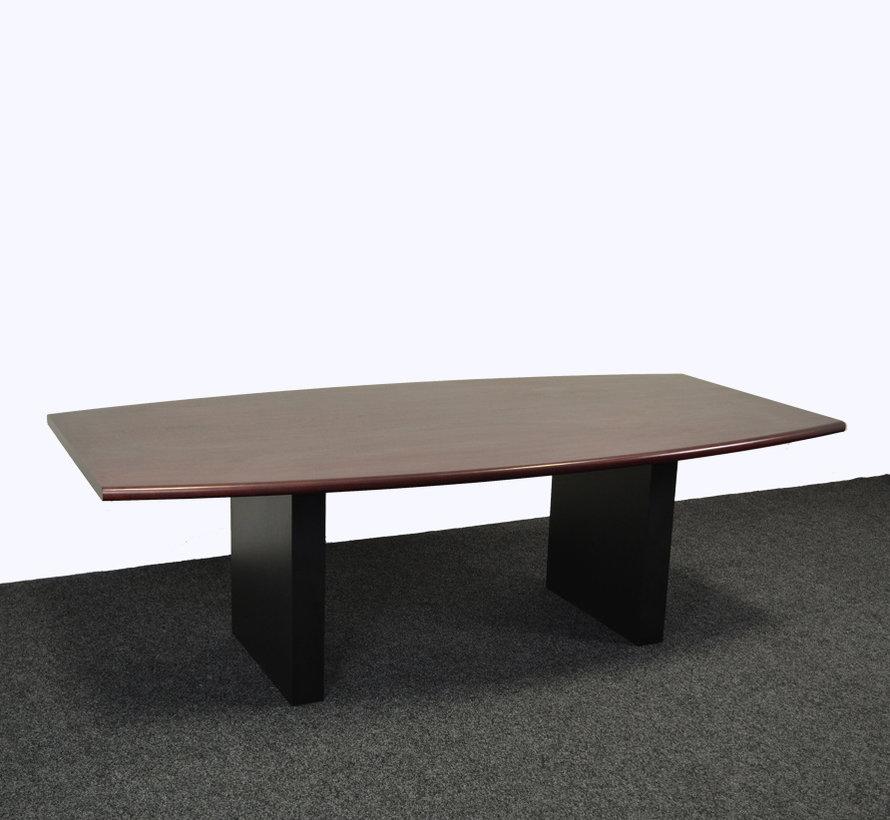 Vergadertafel 240x120 cm noten/wenge tafelblad