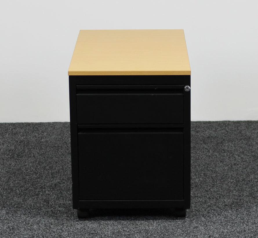 Ladeblok Zwart 3 Laden 60 x 45 x 74 cm