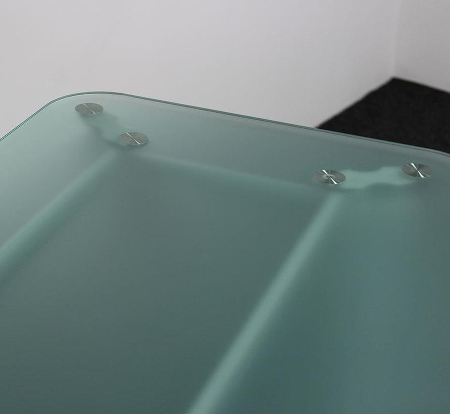 Kantoortafel Gehard Glas   200 x 80/93 cm