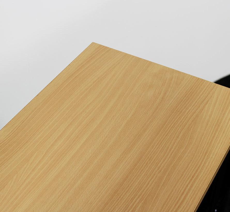 Roldeurkast Zwart 75 x 80 x 43 cm