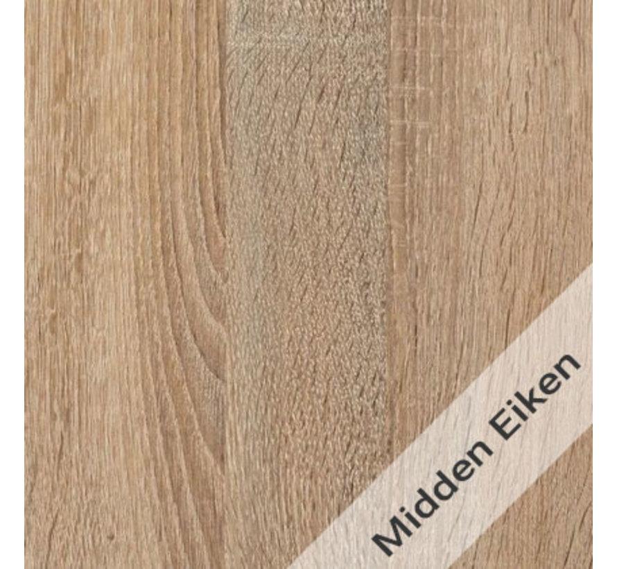 Gispen Next Inbus Bureau 160 x 80 cm Nieuw Midden Eiken Blad