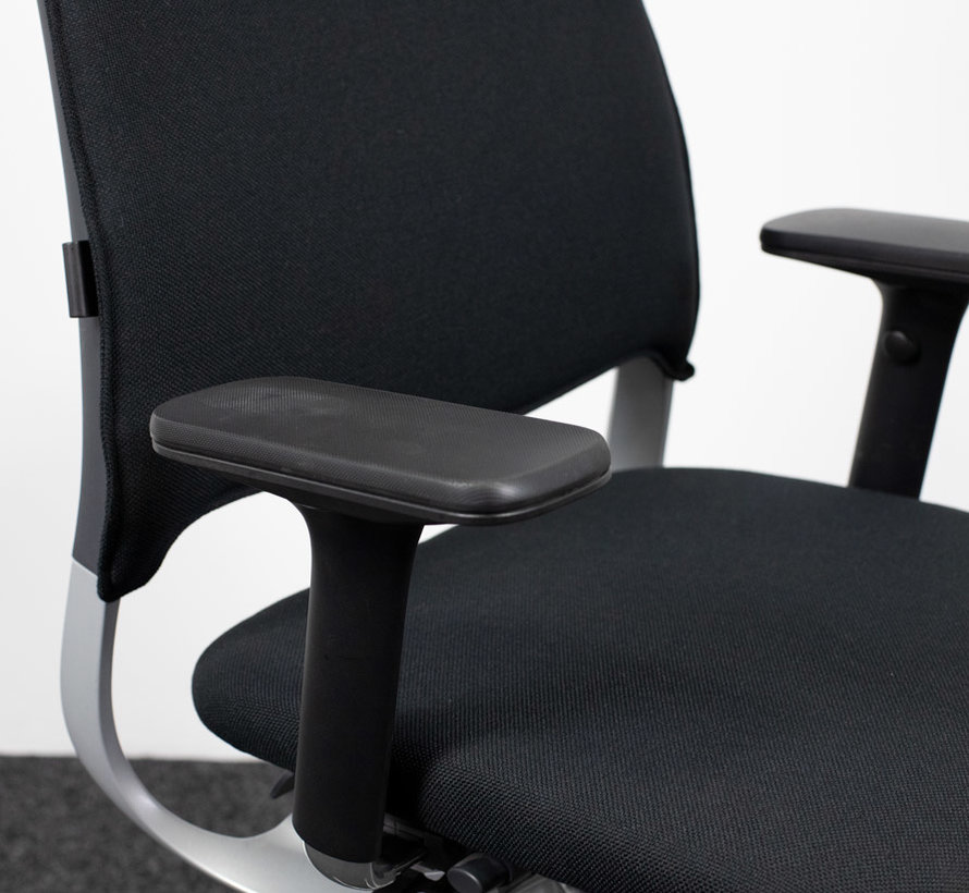 Drabert Salida Bureaustoel Zwart | Aluminium Onderstel