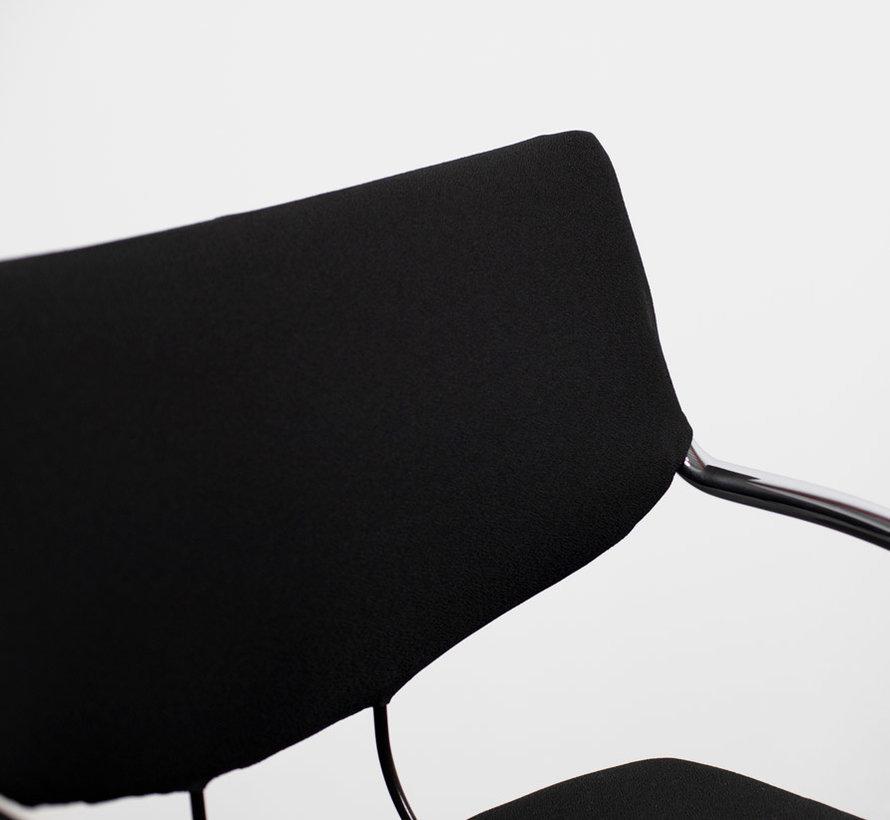 Klöber 574 Vergaderstoel | Zwart - Chroom Onderstel