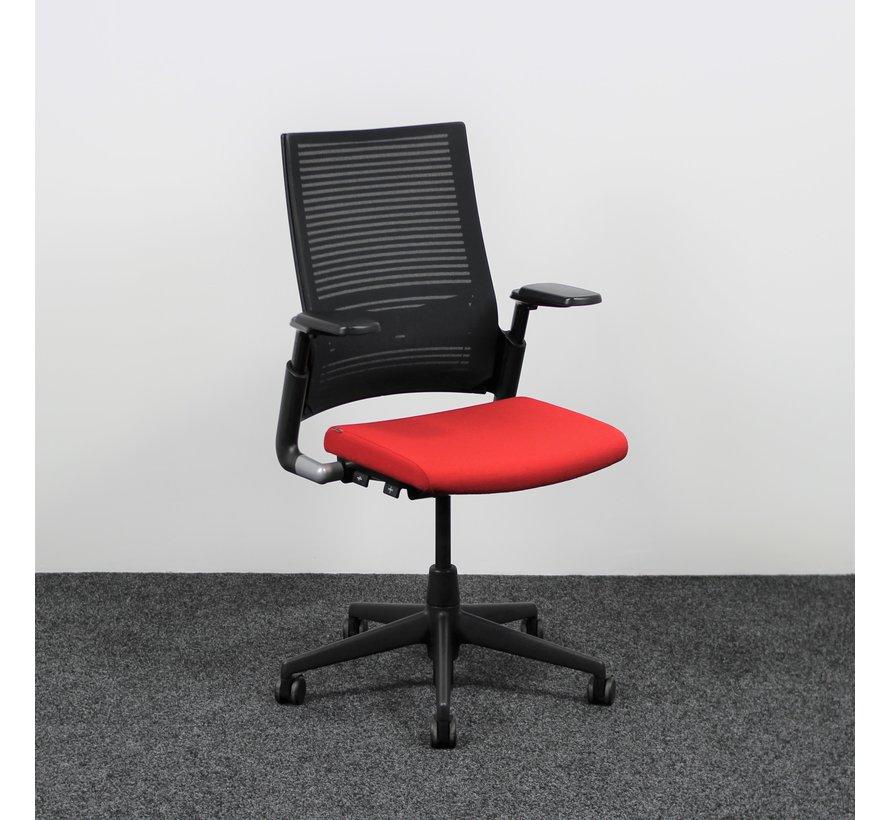Ahrend 2020 Bureaustoel Rood & Zwart