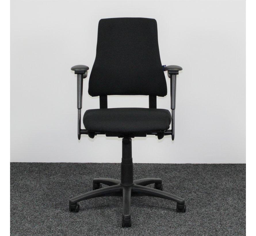 BMA Axia Bureaustoel Zwart   Nieuw Gestoffeerd - Hoge Rug