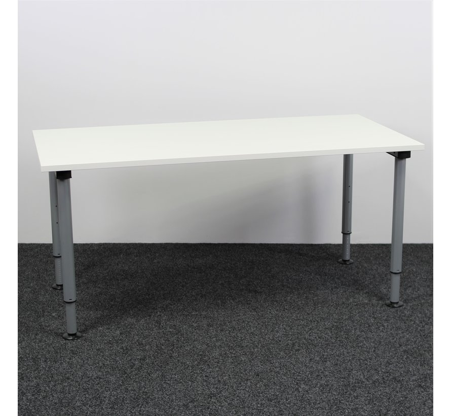 Gispen Next Inbus Bureau 160 x 80 cm Nieuw Wit Blad