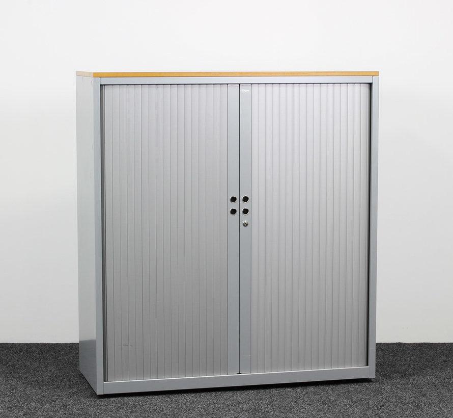 Gispen Meta Roldeurkast Grijs | 132 x 120 x 47 cm