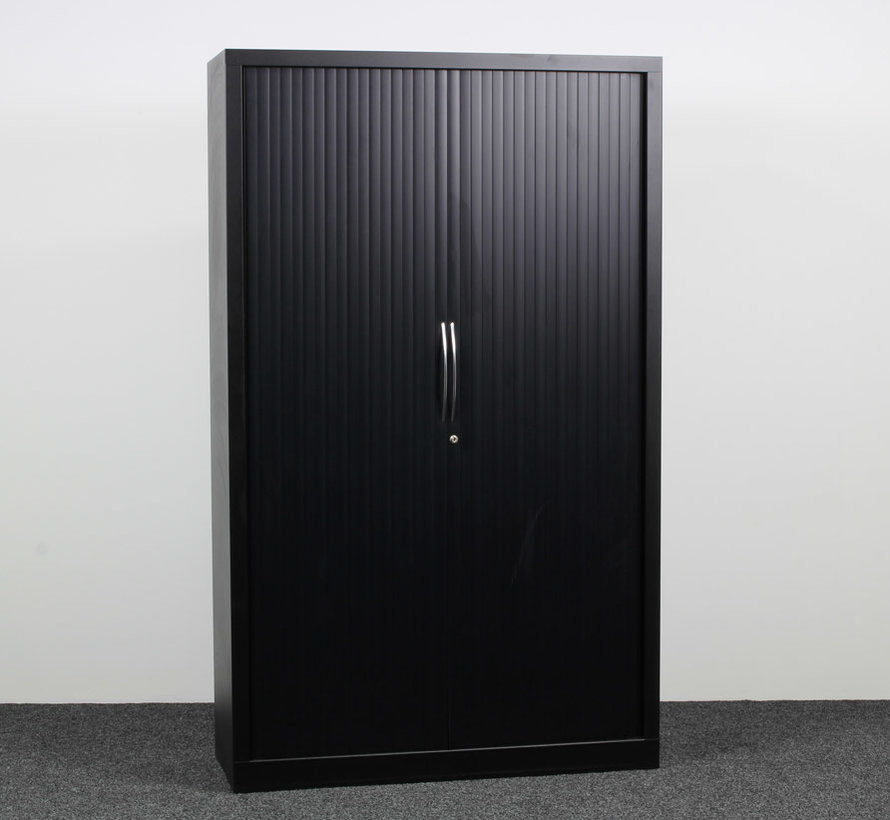 Roldeurkast Zwart 198 x 120 x 43 cm
