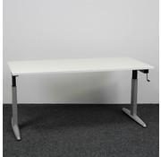 Zwartwoud Zwartwoud Zettoe HV Slingerbureau | 160 x 80 cm - Wit