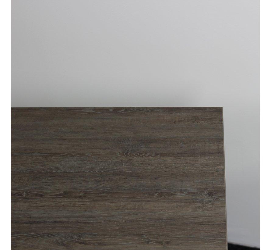 Gispen Next Inbus Bureau 160 x 80 cm   Nieuw Donker Eiken Blad