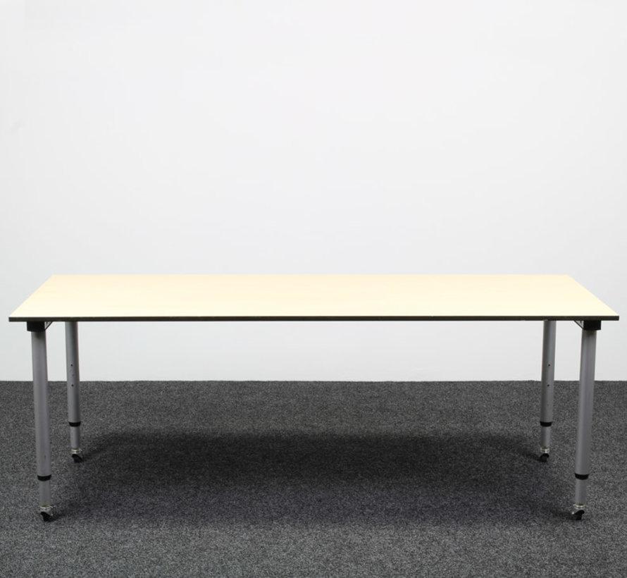 Gispen Next Verrijdbaar Inbus Bureau | 200 x 80 cm