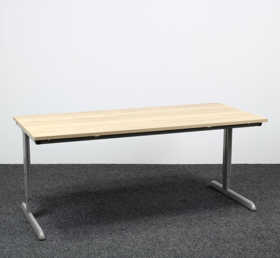 Ahrend 100 Verstelbaar Bureau Nieuw Natuur Eiken Blad - 180 x 80 cm