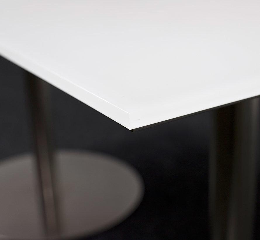 Designtafel Wit Glazen Blad - 160 x 80 cm