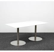 Lamers Kantoormeubelen Designtafel Wit Glazen Blad - 160 x 80 cm