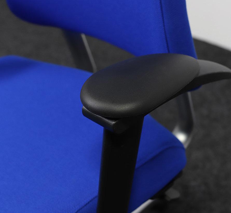 BMA Axia Bureaustoel Blauw | Nieuw Gestoffeerd - Hoge Rug