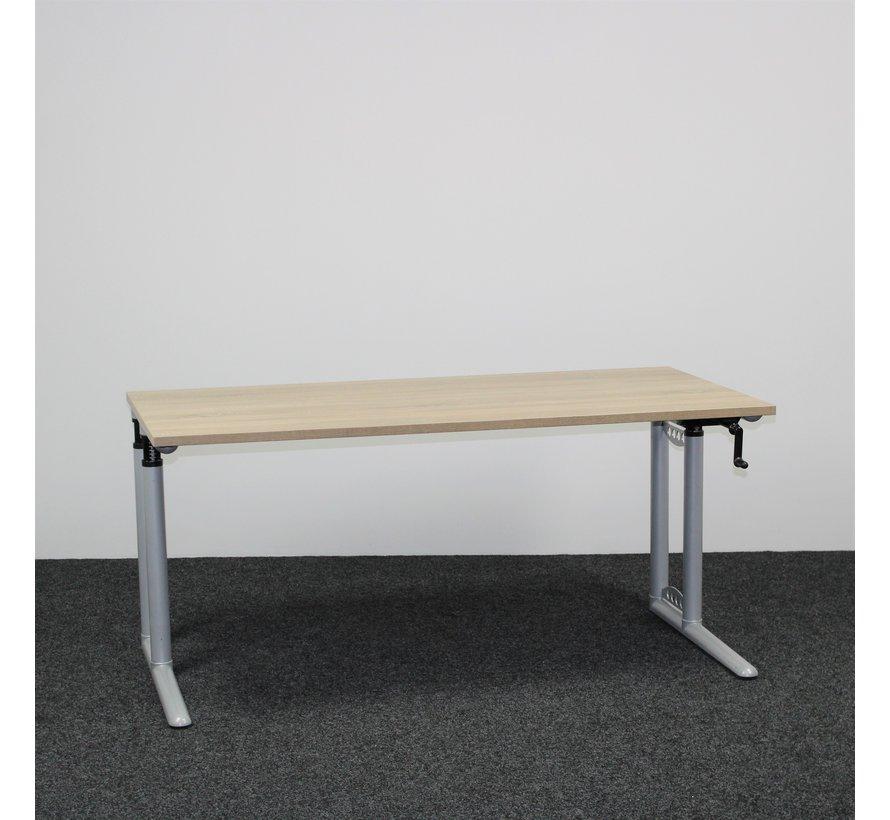 Steelcase Slingerbureau Nieuw Midden Eiken Blad - 160 x 80 cm
