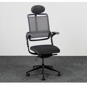 Rohde & Grahl Grahl Xenium Bureaustoel + Hoofdsteun - Zwart