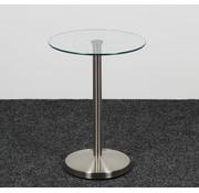 Lamers Kantoormeubelen Glazen Design Bijzettafel Glas - Ø 40 cm