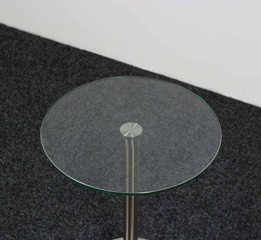 Glazen Design Bijzettafel Glas - Ø 40 cm