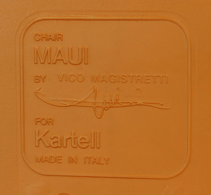 Kartell Maui Kantinestoel Oranje