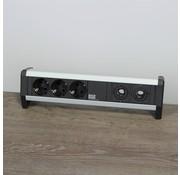 Bachmann Bachmann Desk 1 Stekkerdoos - 3 Stopcontacten