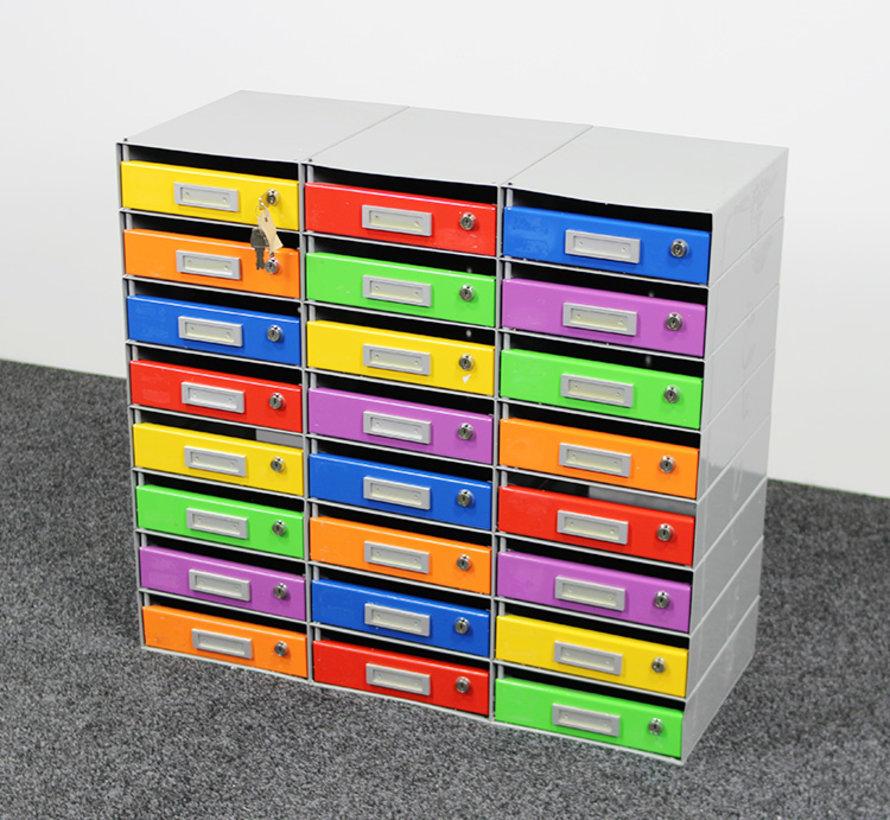 24-Vaks Postkast Multicolor - 80 x 88 x 37 cm