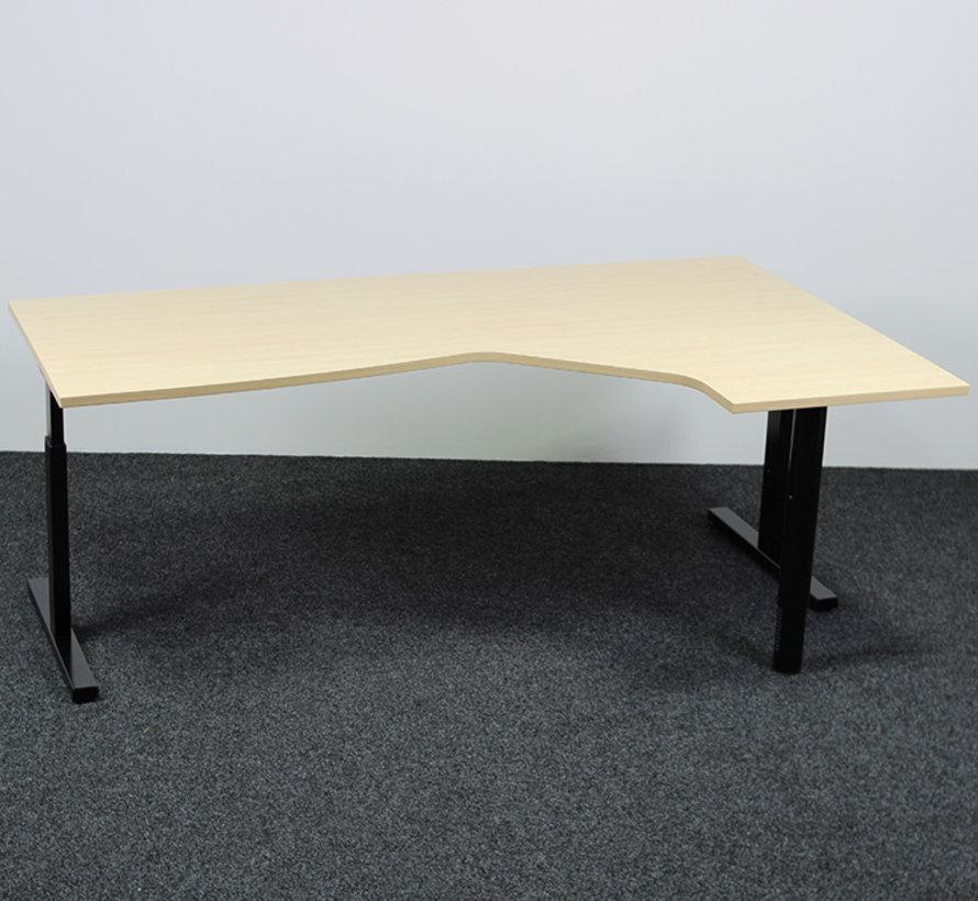 Hoekbureau Rechts | Zwart Onderstel - Licht Peren Blad 200x120 cm