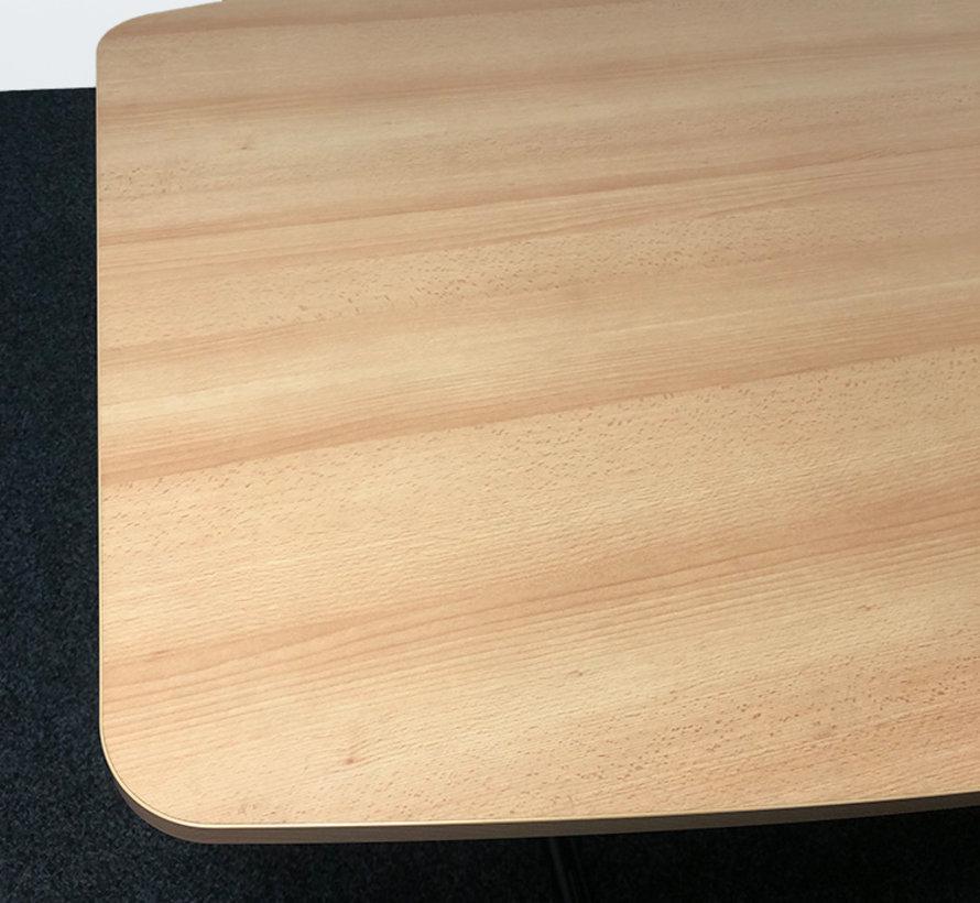 Ahrend Mehes Vergadertafel 240x120 cm - Nieuw Natuur Eiken Blad - Copy