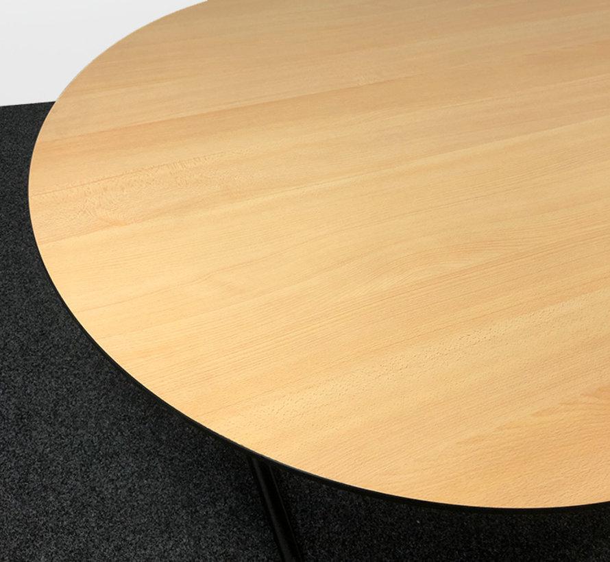 Ahrend Mehes Vergadertafel 220 x 120 cm - Ovaal Beuken Blad