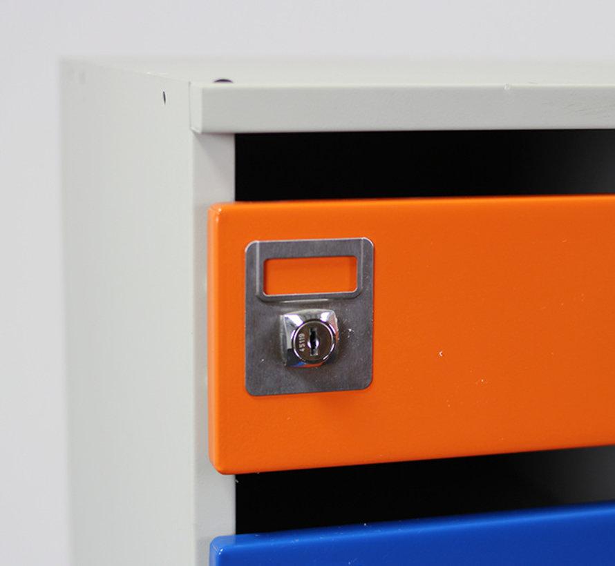 Oostwoud Postkast - 18 Vakken   Blauw & Oranje