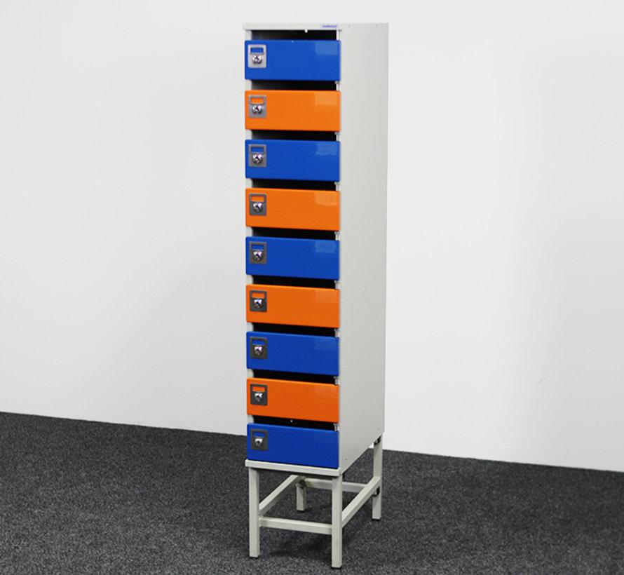Oostwoud Postkast - 9 Vakken | Blauw & Oranje