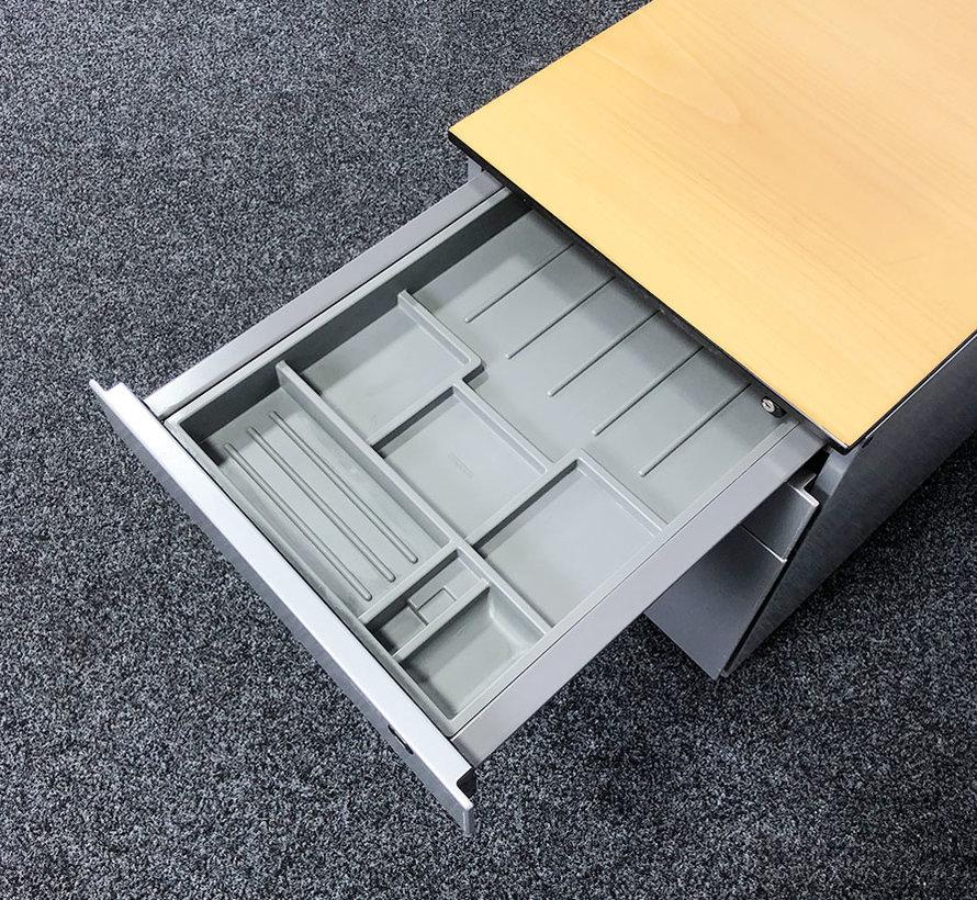 Ahrend Ladeblok Aluminium 3 Laden 57 x 42 x 76 cm