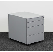 Lamers Kantoormeubelen Ladeblok Aluminium 4 Laden 52 x 42 x 58 cm